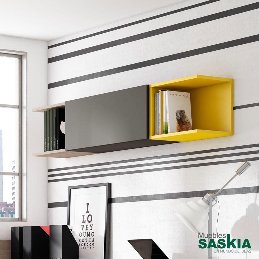 Estantes juvenil muebles saskia en pamplona - Estantes para pared ...