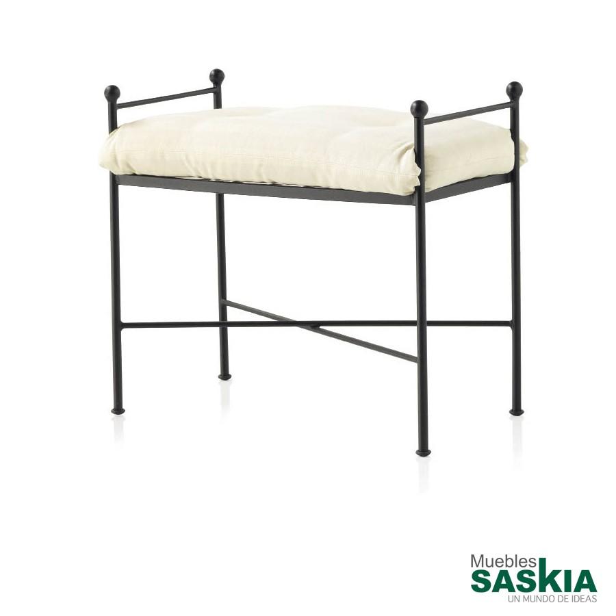 Asiento dormitorio de forja con rejillas JAYSO-BF-1050 | Muebles ...