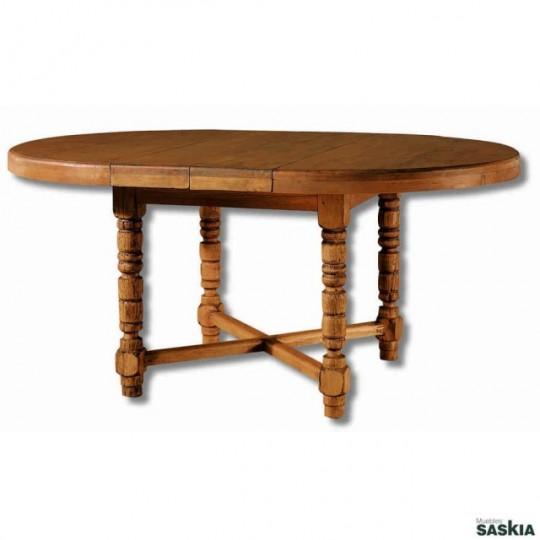 Mesa de comedor colonial de 140 extensible a 200 my 12152 my 12152 muebles saskia en pamplona Mesa comedor colonial