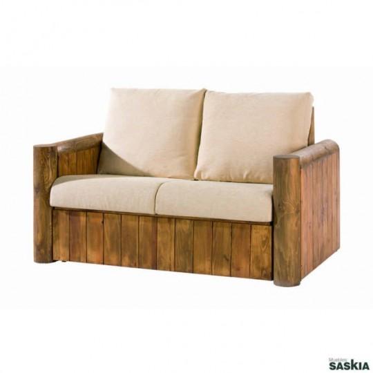 Sof 2 plazas colonial my 14506 my 14506 muebles saskia - Sofas de madera de pino ...
