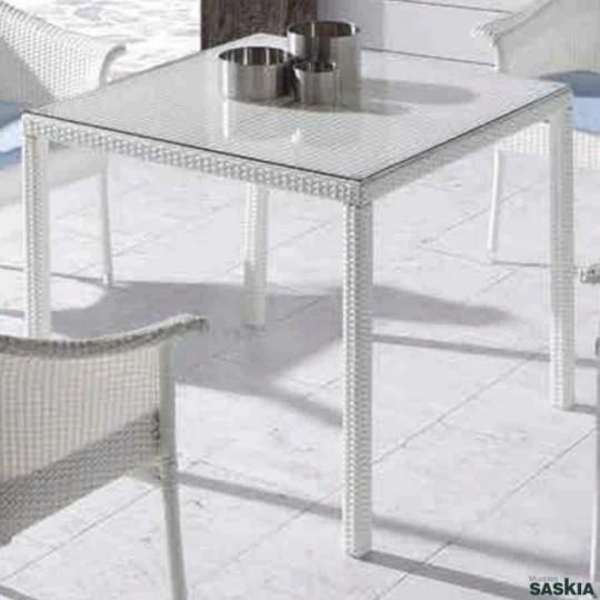 Mesa julay blanco 140 x 90 con cristal 123 1785b2 for Mesa cristal 140 x 90