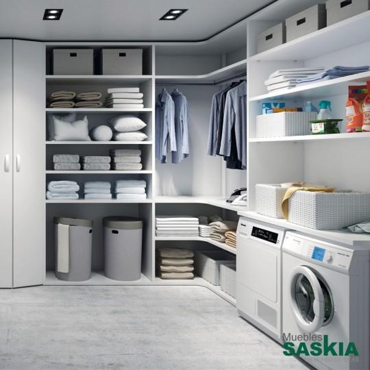 Todo perfectamente organizado en este lavadero, se adapta a cualquier estancia de tu casa.