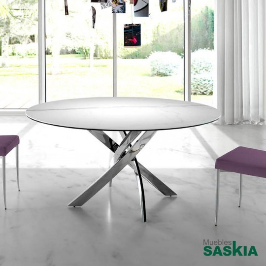 Mesa de comedor f2133 marmol 120 f2133 marmol 120 - Bases de marmol para mesas de comedor ...