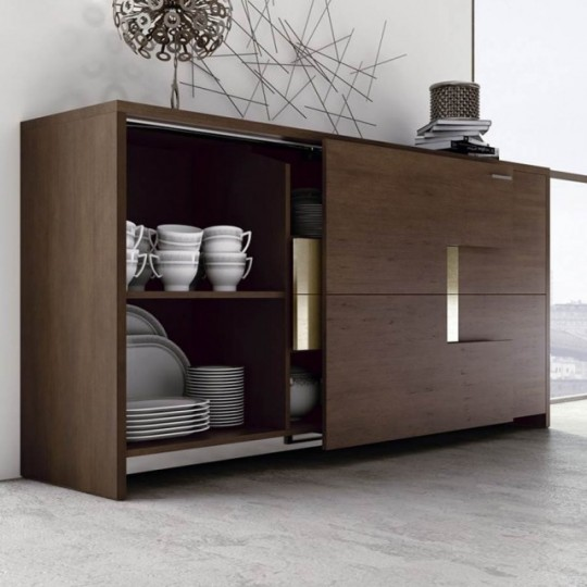Aparador de estilo contemporáneo realizada en madera de Roble.