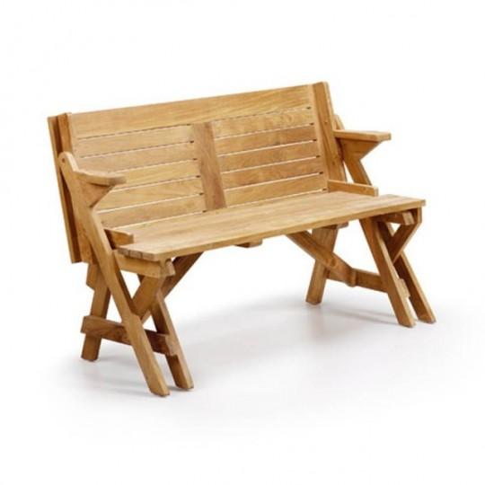 Banco convertible mesa teka 9120 muebles saskia en pamplona - Banco madera jardin ...