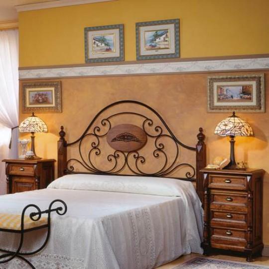 Cabecero forja cl sico 150 3501 muebles saskia en pamplona - Cabeceros de cama rusticos ...