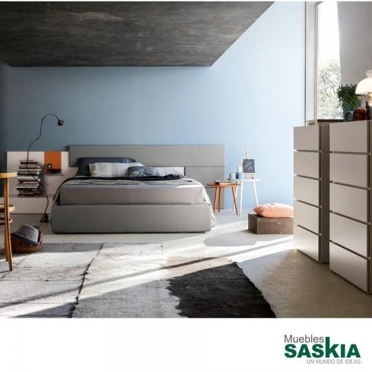 cama de matrimonio moderna bs025 muebles saskia en pamplona