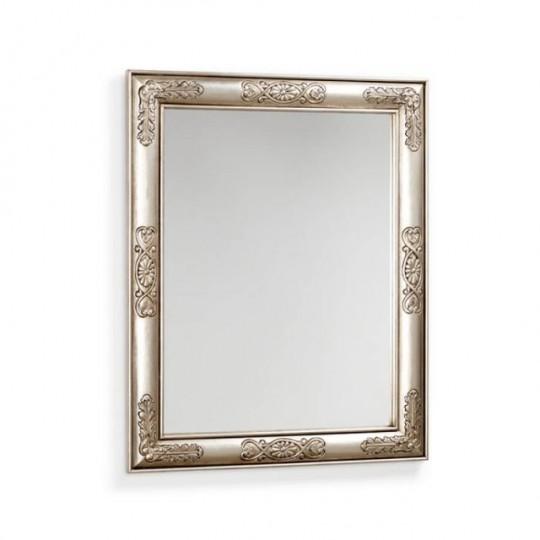 Espejo de plata en estilo Vintage.