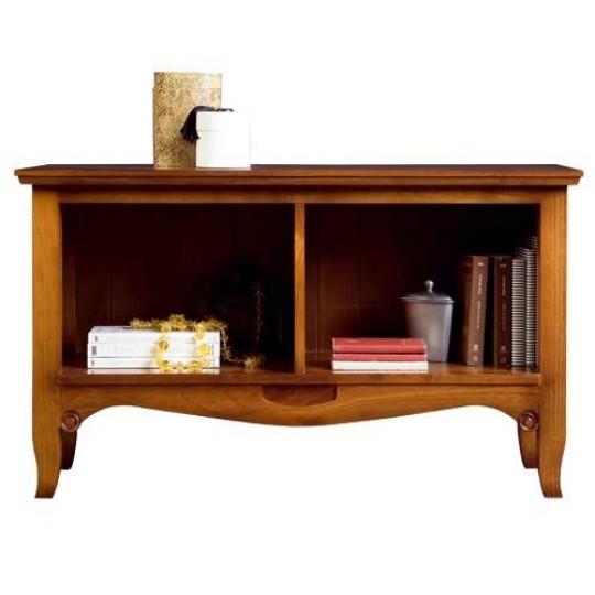 Librero de madera maciza de pino.