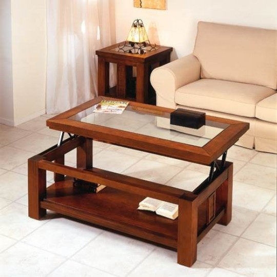 Mesa de centro colonial dicola 736 3736 muebles saskia - Mesa centro colonial ...