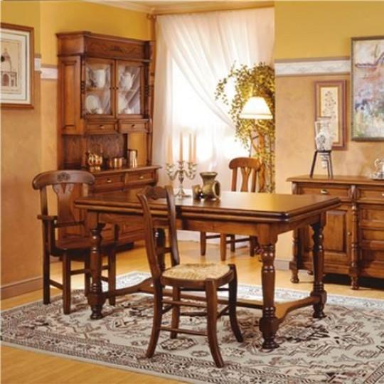 Mesa de comedor extensible 3099 muebles saskia en pamplona Mesa comedor clasica