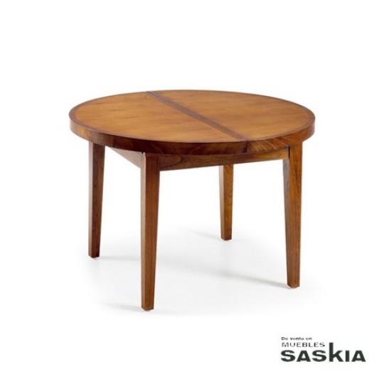 Mesa de comedor redonda extensible 30299 | Muebles Saskia en Pamplona