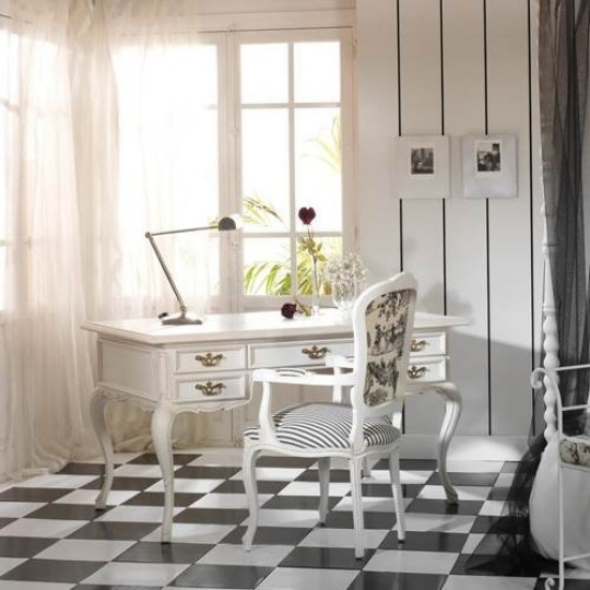 Escritorio cl sico 4136 0 muebles saskia en pamplona for Muebles escritorios clasicos