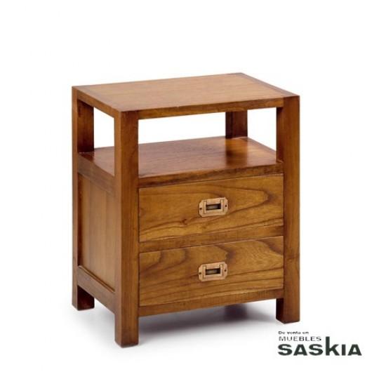 Mesita de noche colonial 30164 muebles saskia en pamplona - Mesitas de noche recicladas ...