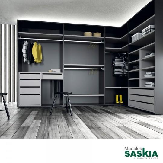 Configura con libertad el vestidor de tus sueños optimizando al máximo tu espacio. Aprovecha cada rincón.