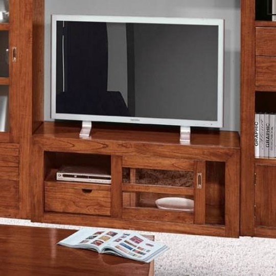 Mueble tv colonial 016 2016 muebles saskia en pamplona for Muebles teca colonial