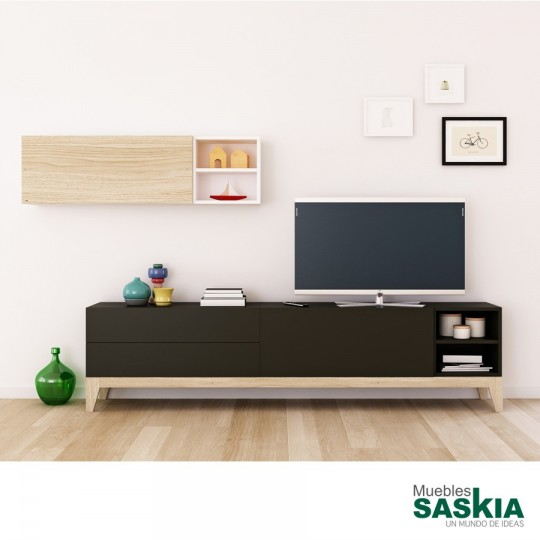 Mueble de tv sal n moderno composicion 3 decornouveau 113 for Composicion muebles salon modernos