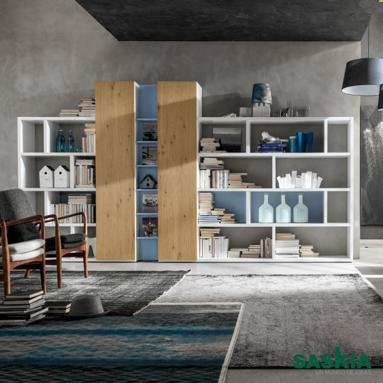 Muebles de sal n estanter a moderna gs003 muebles saskia for Muebles salon pamplona