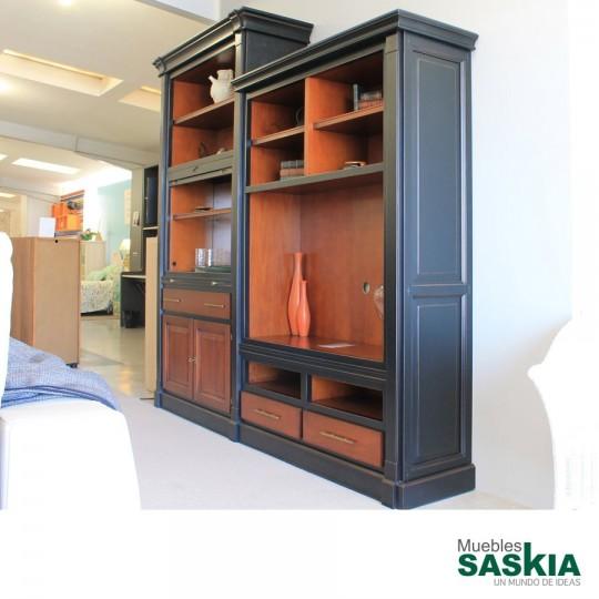 Mueble librer a cl sica conjunto exposicion tienda 2 for Ofertas muebles salon