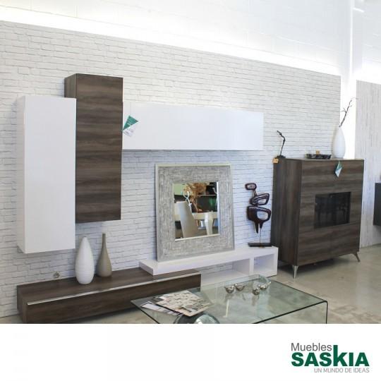 Oferta de ambiente de sal n moderno conjunto exposicion for Ofertas muebles salon