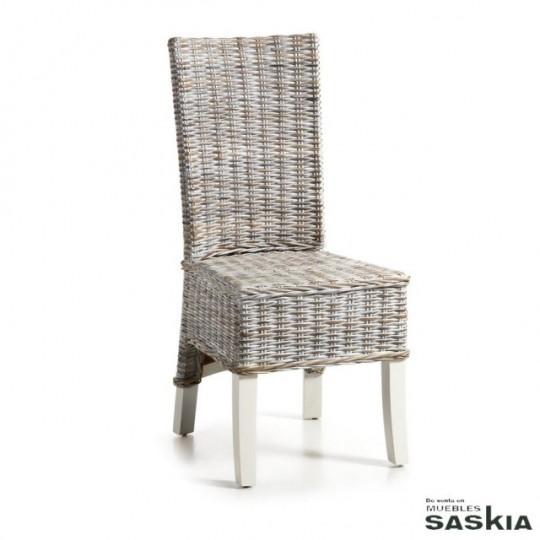 Silla salsa de caoba y fibra natural 11 24450s muebles - Sillas de fibra natural ...