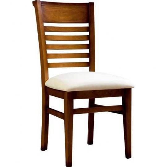 Silla de comedor elia 1241 muebles saskia en pamplona for Modelos de sillas de madera para comedor