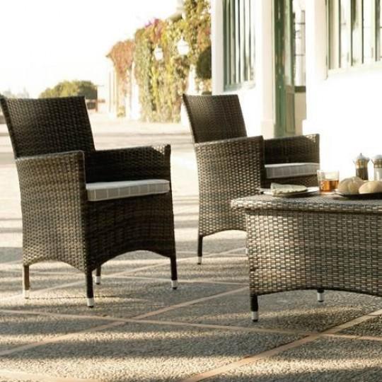 Muebles de resina para jardin amazing caseta para with for Sofa exterior alcampo