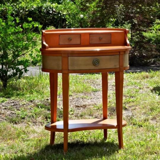 Telefonéra de estilo vintage, con 3 cajones, realizada en maderas barnizadas y lacadas