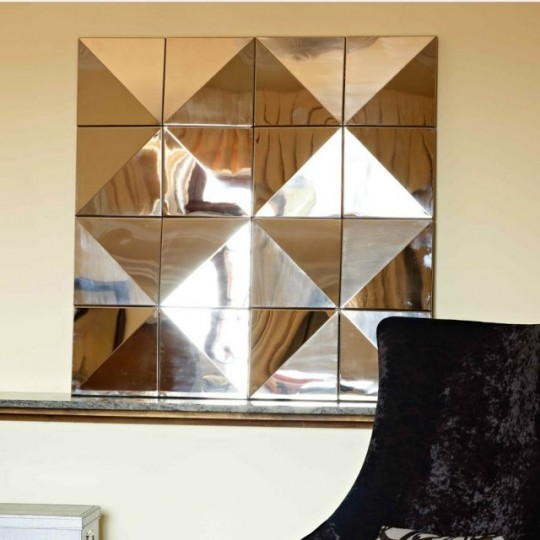 Elegante espejo de estilo vintage, realizado todo en espejo