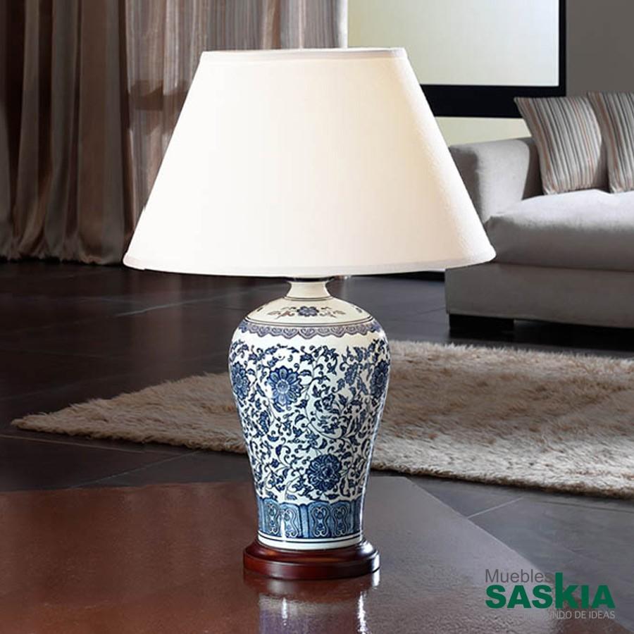 Lámpara de sobremesa ceramica alcora