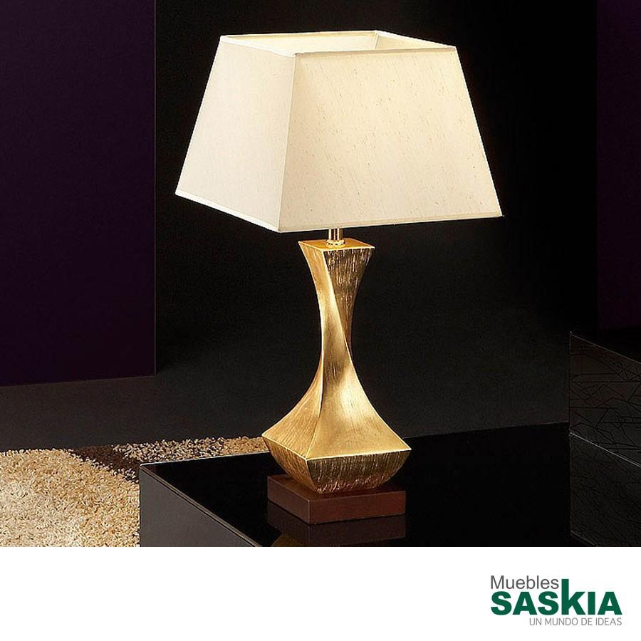 Lámpara de sobremesa deco oro pequeño. 1L