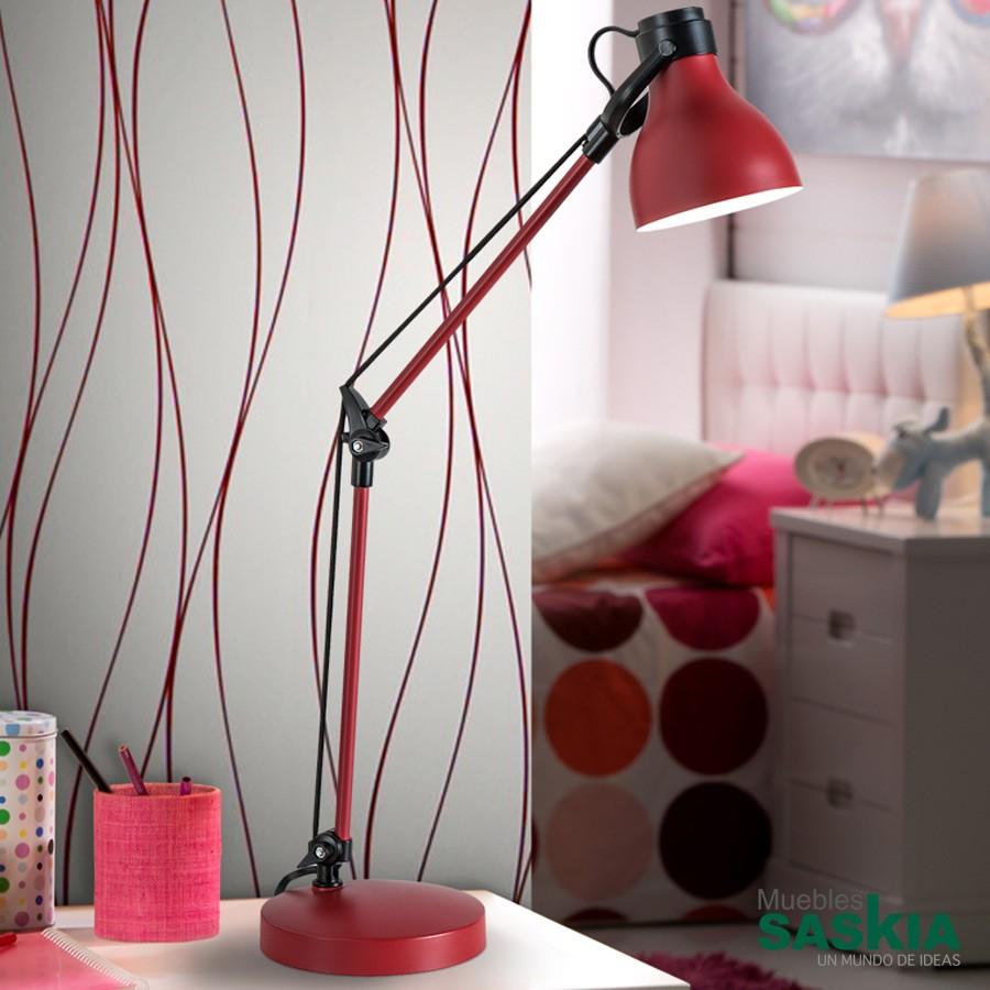 Lámpara de sobremesa estudio neo rojo