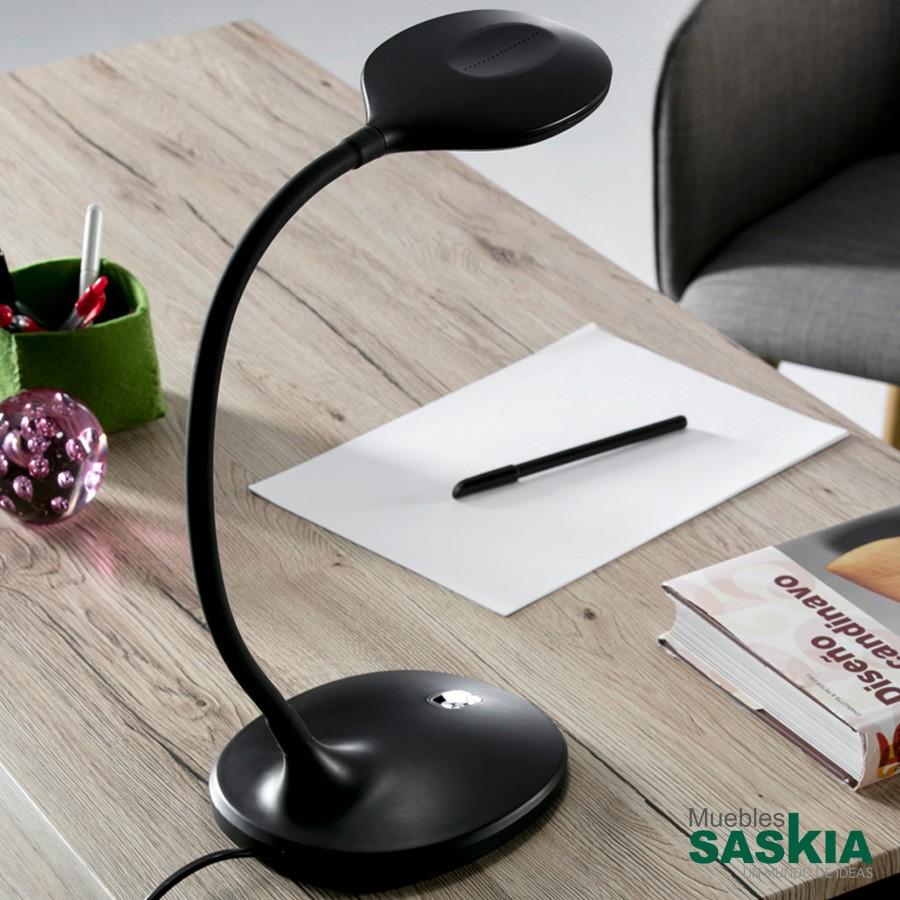 Lámpara de sobremesa led scoop negro