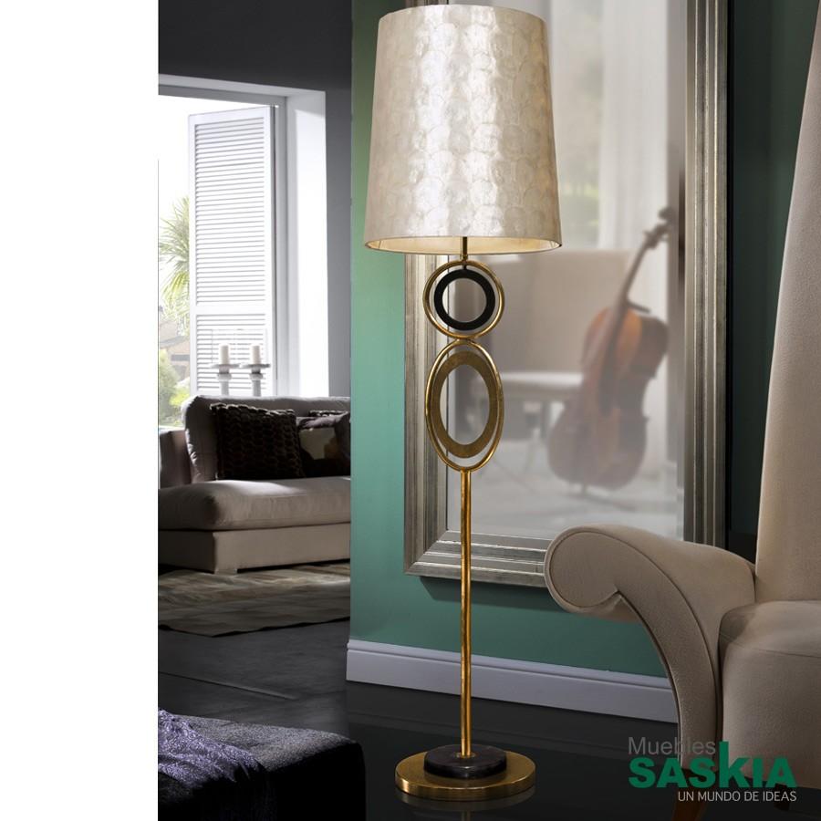 Lámpara de pie eden oro diámetro 42