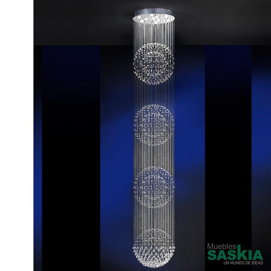Lámpara. Estratos diámetro 60 10l 4bolas