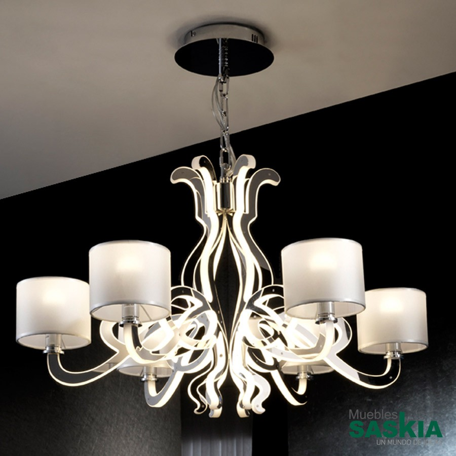 Lámpara alma 6l+led cromo