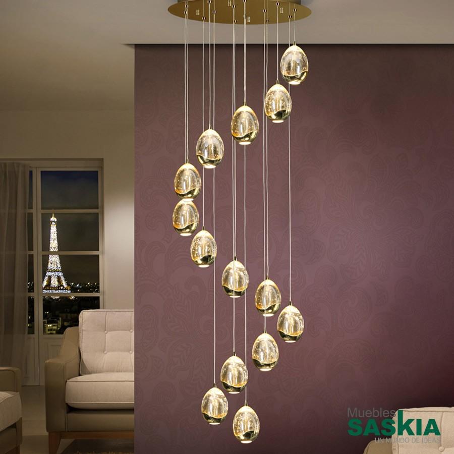 Lámpara. diámetro 50rocio 14 oro dimable