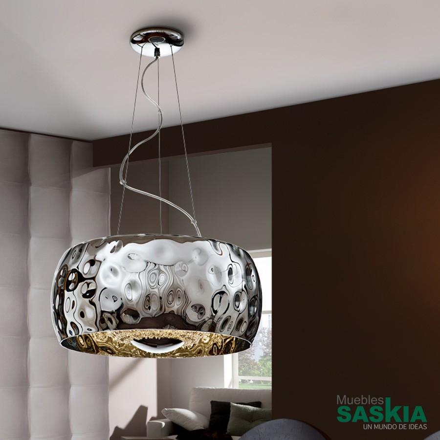 Lámpara fluvio cromo diámetro 50
