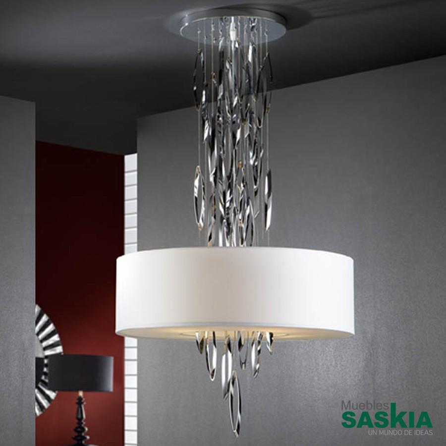 Lámpara domo 4l cromo brillo