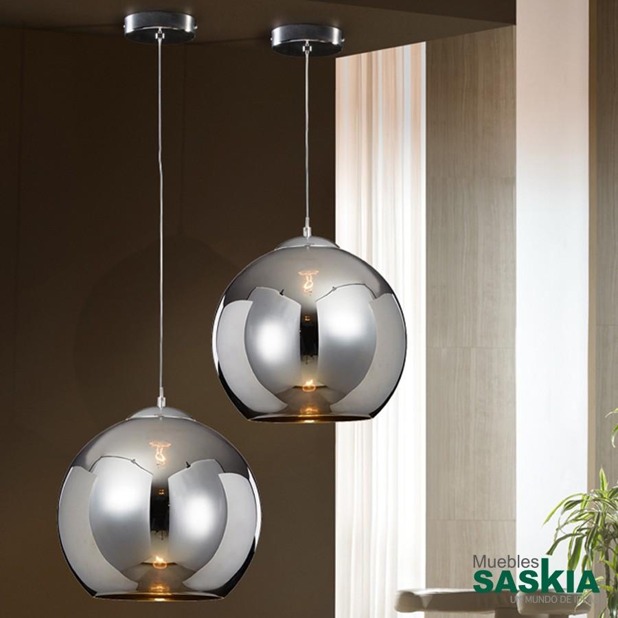 Lámpara esfera cromo