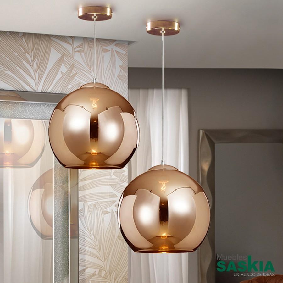Lámpara esfera cobre