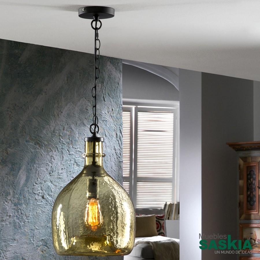 Lámpara laia ambar diámetro 28