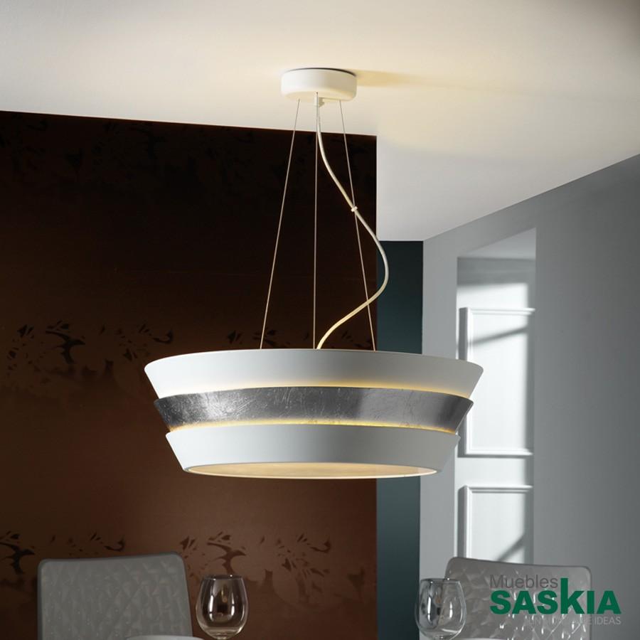 Lámpara isis 6l blanco/plata