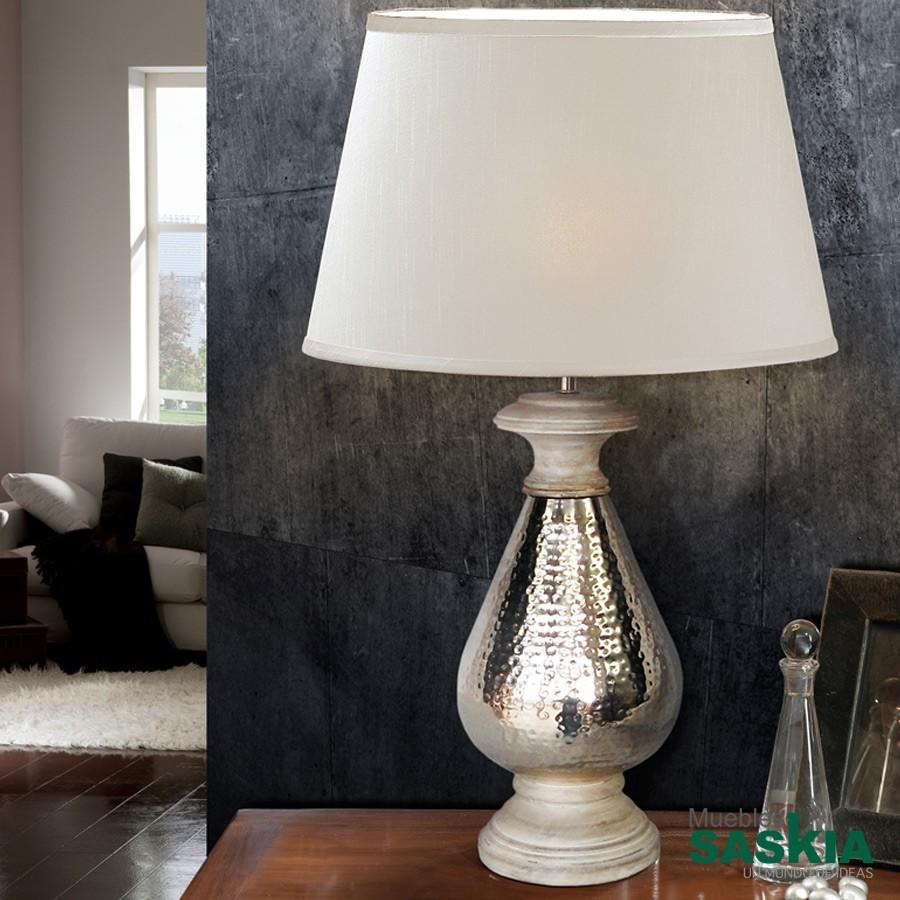 Lámpara de sobremesa ishara1l niquel diámetro 40