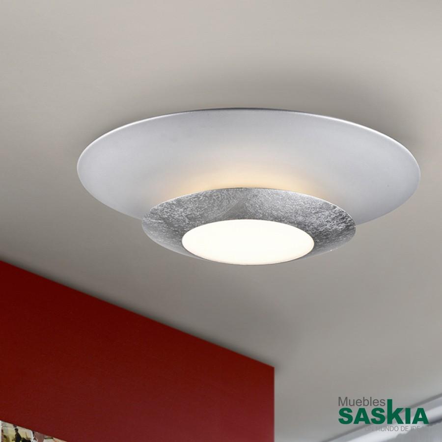 Lámparas led hole plata diámetro 42