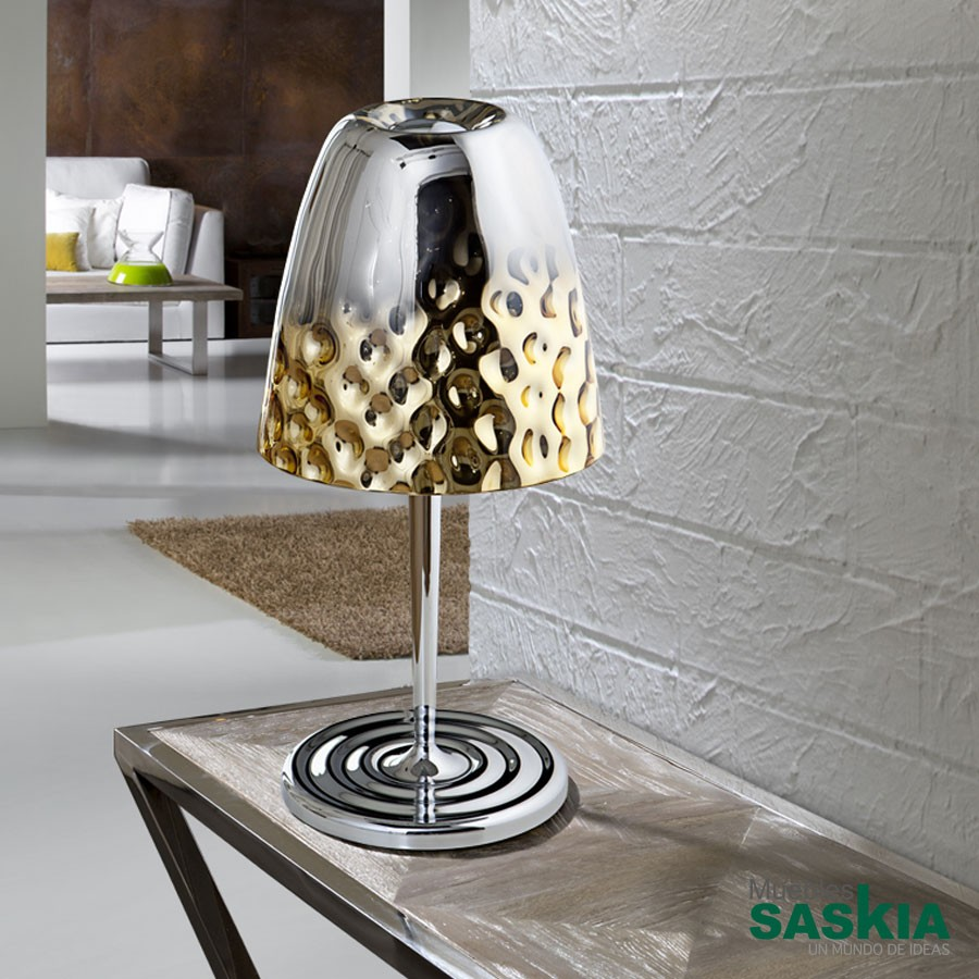 Lámpara de sobremesa riviera 1l diámetro 28