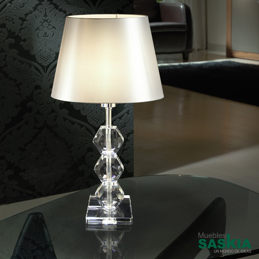 Lámpara de sobremesa corinto iii transparente.1l