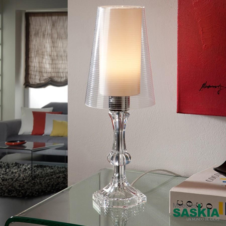 Lámpara de sobremesa wendy transp.