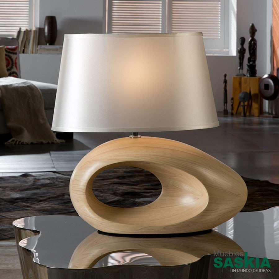 Lámpara de sobremesa runa color madera