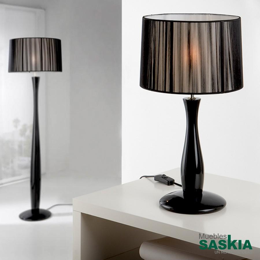 Lámpara de sobremesa lin negro c/p